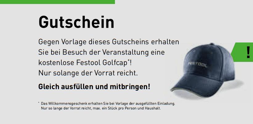 WBV Festool Neuheitentag 2019 Gutschein