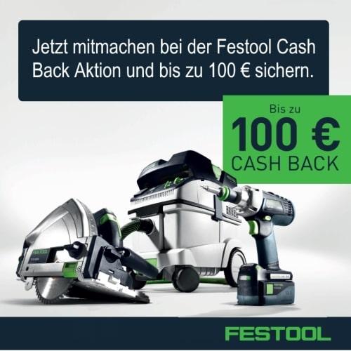 Festool Cash Back Aktion 2019 Banner