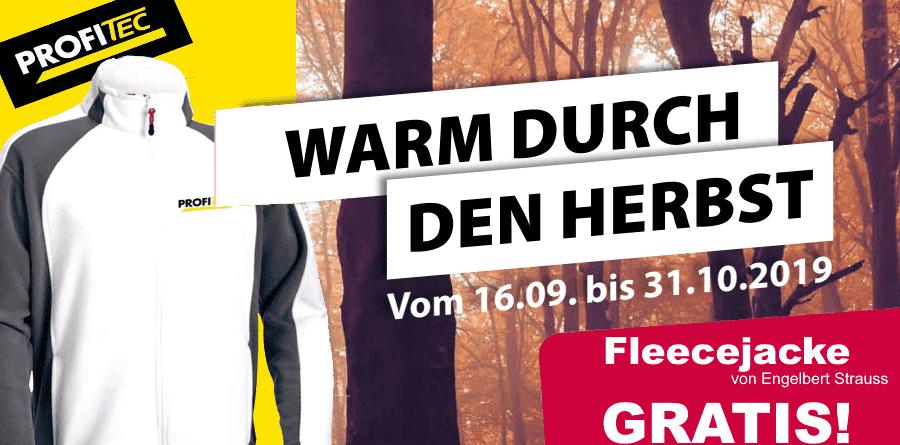 ProfiTec Herbstaktion 2019 Fleecejacke
