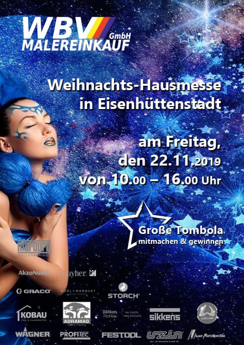 WBV Weihnachts-Hausmesse 2019 Plakat