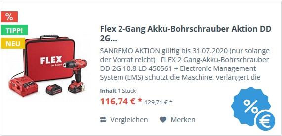 Flex 2-Gang Akku-Bohrschrauber Aktion DD 2G