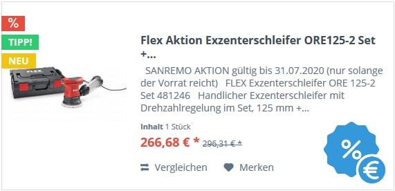 Flex Aktion Exzenterschleifer ORE125-2 Set