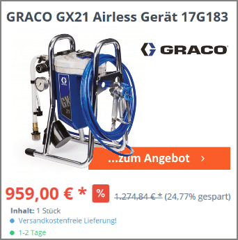 GRACO GX21 Airless Gerät 17G183 2020_09